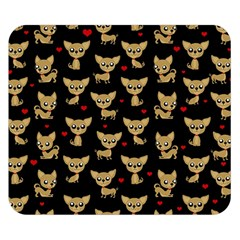 Chihuahua Pattern Double Sided Flano Blanket (small)