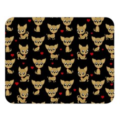 Chihuahua Pattern Double Sided Flano Blanket (large)