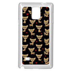 Chihuahua Pattern Samsung Galaxy Note 4 Case (white)