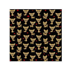 Chihuahua Pattern Small Satin Scarf (square)