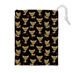 Chihuahua Pattern Drawstring Pouches (extra Large)