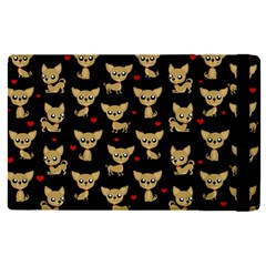 Chihuahua Pattern Apple Ipad Pro 12 9   Flip Case