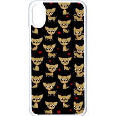 Chihuahua Pattern Apple Iphone X Seamless Case (white)