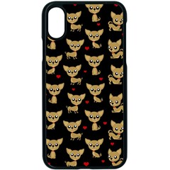 Chihuahua Pattern Apple Iphone X Seamless Case (black)