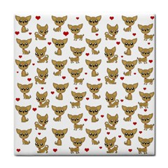Chihuahua Pattern Tile Coasters