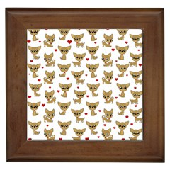 Chihuahua Pattern Framed Tiles