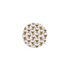 Chihuahua Pattern 1  Mini Buttons