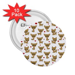 Chihuahua Pattern 2 25  Buttons (10 Pack)