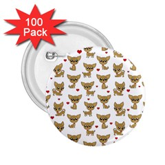 Chihuahua Pattern 2 25  Buttons (100 Pack)
