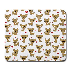 Chihuahua Pattern Large Mousepads
