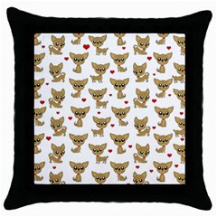 Chihuahua Pattern Throw Pillow Case (black)