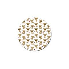 Chihuahua Pattern Golf Ball Marker (4 Pack)