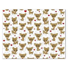 Chihuahua Pattern Rectangular Jigsaw Puzzl