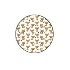 Chihuahua Pattern Hat Clip Ball Marker (4 Pack)