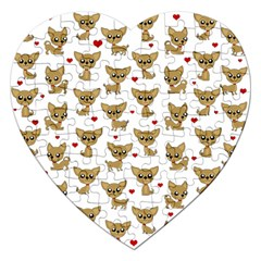 Chihuahua Pattern Jigsaw Puzzle (heart)