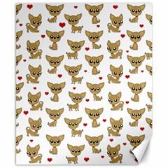 Chihuahua Pattern Canvas 8  X 10