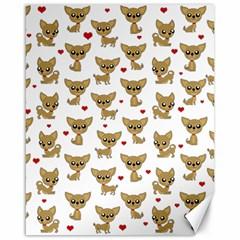Chihuahua Pattern Canvas 16  X 20