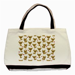Chihuahua Pattern Basic Tote Bag (two Sides)