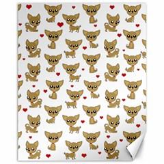 Chihuahua Pattern Canvas 11  X 14