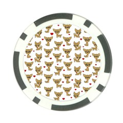 Chihuahua Pattern Poker Chip Card Guard