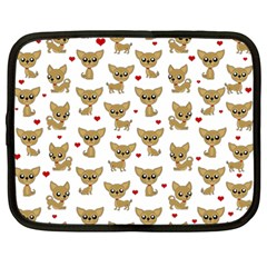 Chihuahua Pattern Netbook Case (large)