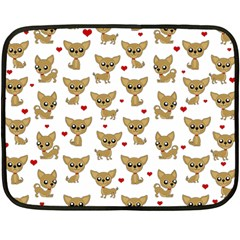 Chihuahua Pattern Double Sided Fleece Blanket (mini)
