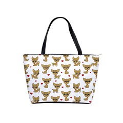 Chihuahua Pattern Shoulder Handbags