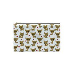 Chihuahua Pattern Cosmetic Bag (small)