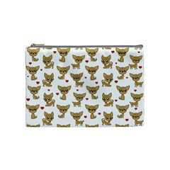 Chihuahua Pattern Cosmetic Bag (medium)