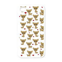 Chihuahua Pattern Apple Iphone 4 Case (white)