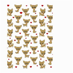 Chihuahua Pattern Small Garden Flag (two Sides)