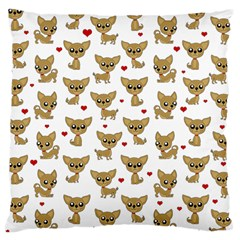 Chihuahua Pattern Large Cushion Case (one Side)