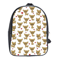 Chihuahua Pattern School Bag (xl)