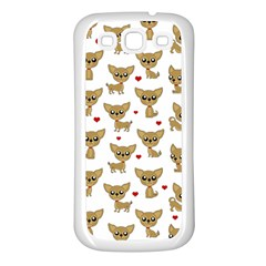 Chihuahua Pattern Samsung Galaxy S3 Back Case (white)
