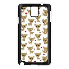 Chihuahua Pattern Samsung Galaxy Note 3 N9005 Case (black)