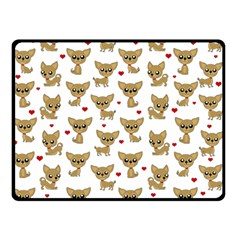 Chihuahua Pattern Double Sided Fleece Blanket (small)