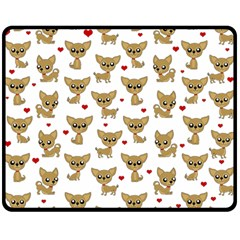Chihuahua Pattern Double Sided Fleece Blanket (medium)