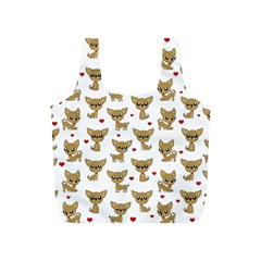 Chihuahua Pattern Full Print Recycle Bags (s)
