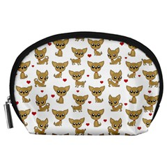 Chihuahua Pattern Accessory Pouches (large)
