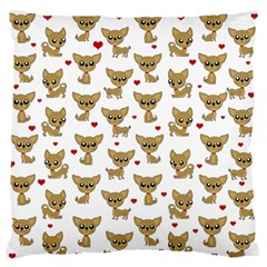 Chihuahua Pattern Large Flano Cushion Case (two Sides)
