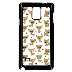 Chihuahua Pattern Samsung Galaxy Note 4 Case (black)