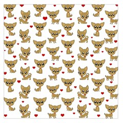 Chihuahua Pattern Large Satin Scarf (square)