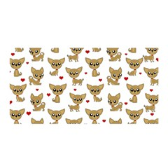 Chihuahua Pattern Satin Wrap