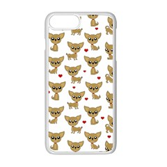 Chihuahua Pattern Apple Iphone 8 Plus Seamless Case (white)