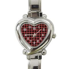 Coke Tartan Heart Italian Charm Watch