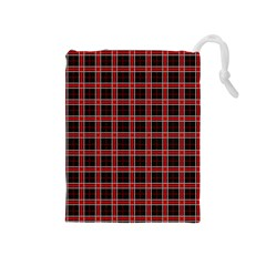 Coke Tartan Drawstring Pouches (medium)