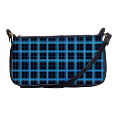 Deep Sea Tartan Shoulder Clutch Bags