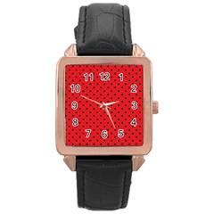 Ladybug Rose Gold Leather Watch