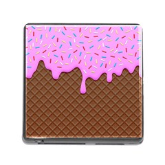Chocolate And Strawberry Icecream Memory Card Reader (square)