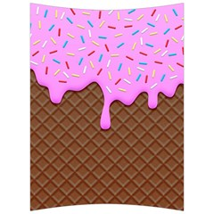 Chocolate And Strawberry Icecream Back Support Cushion